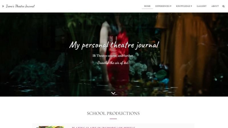 Irene's Theatre Journal