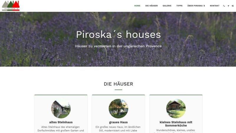 Piroska´s houses