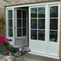 Double glazed French doors with screens in Somerset