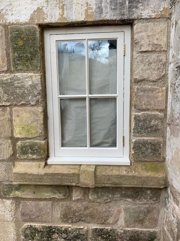 Bespoke casement window install outside of Bath