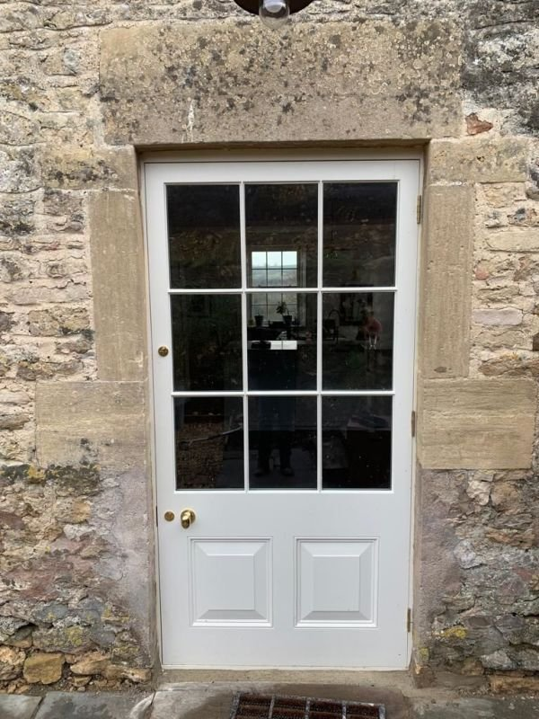 Bespoke 9 Pane Back door install outside of Bath