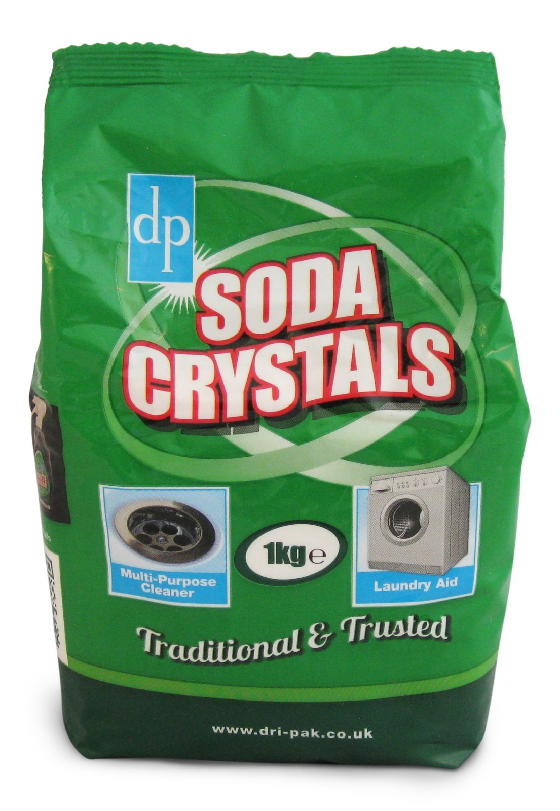 Picture of 1kg bag of Dri-Pak Soda Crystals