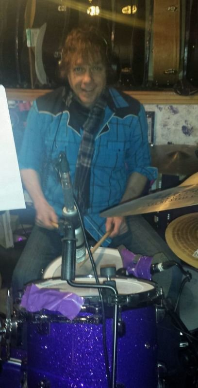 John McTigue lll laying drum tracks