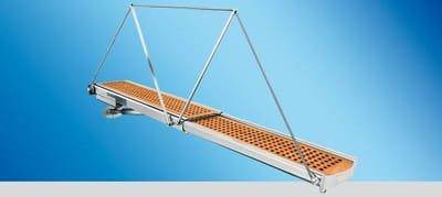 Passerella esterna OPACMARE mod 4994 Passerella telescopica a due sezioni a movimentazione idraulica