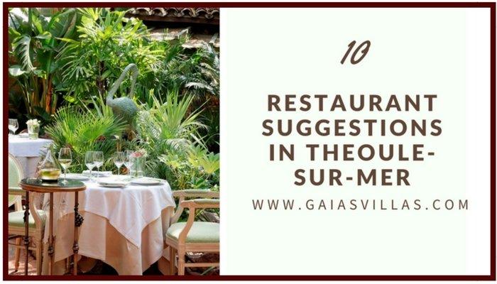 10 Restaurants suggestions in Théoule-sur-Mer