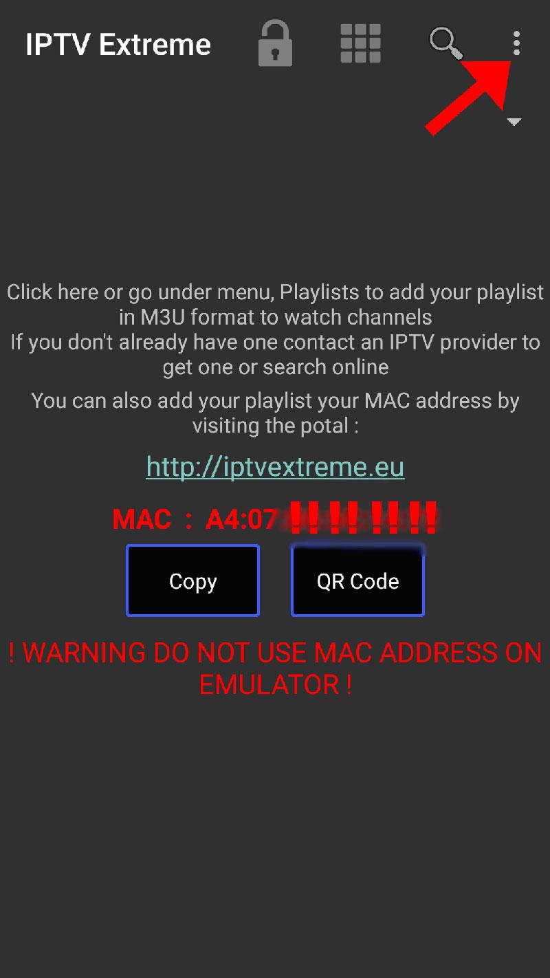 IPTV extreme pro app guide