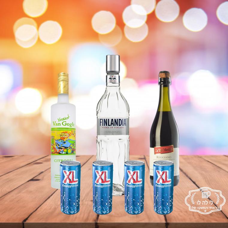 חבילת אלכוהול מסיבת רווקות