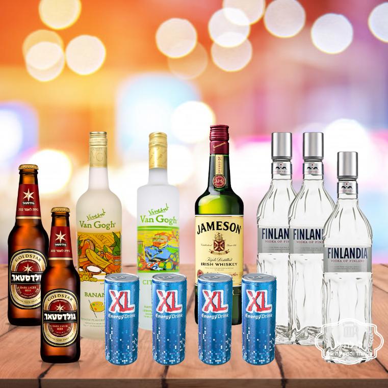 חבילת אלכוהול מסיבת רווקים