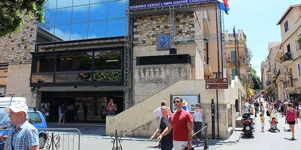 Facciata del Palazzo Corvaja