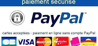 Paiement par carte bancaire  sécurisé     Paypal