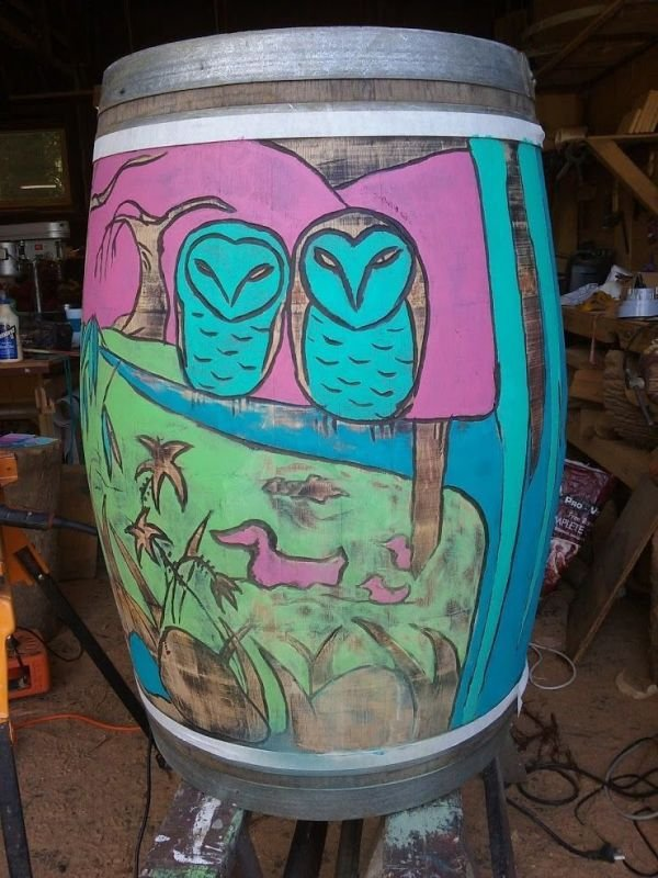 side 2 Barrel i carved and painted