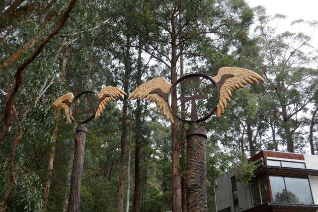 Memorial Totem poles