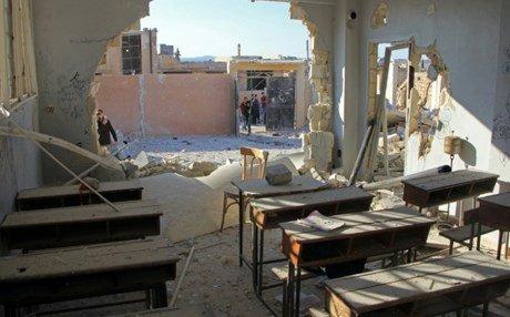 Restoration of bombed schools