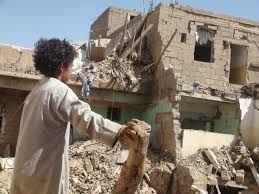 Restoration of bombed houses