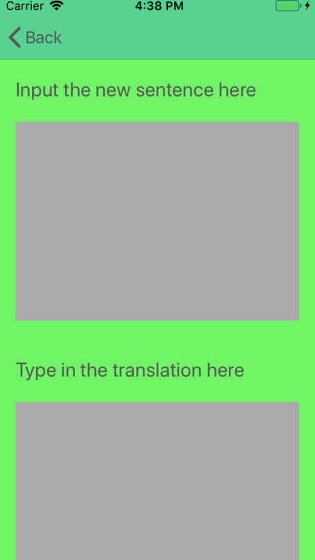 Adding a sentence (1)