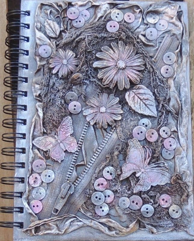 Make a Fairy House or Notebook cover with Powertex