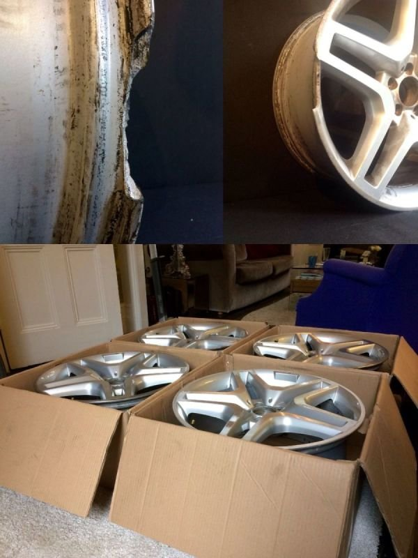 AMG Mercedes Severe Rim Damage & Refurb by post  | Alloywheelwelding.co.uk