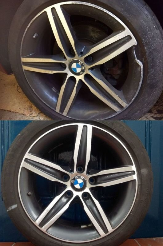 BMW Severe Rim Damage |  Alloywheelwelding.co.uk