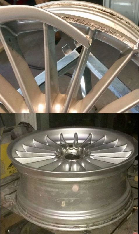 BMW B7 BiTurbo Alpina Severe Rim Damage/ Repair x 2 | Alloywheelwelding.co.uk