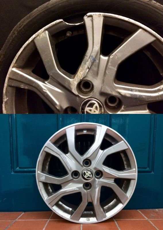 Toyota Yaris Severe Rim Damage Repair | Alloywheelwelding.co.uk