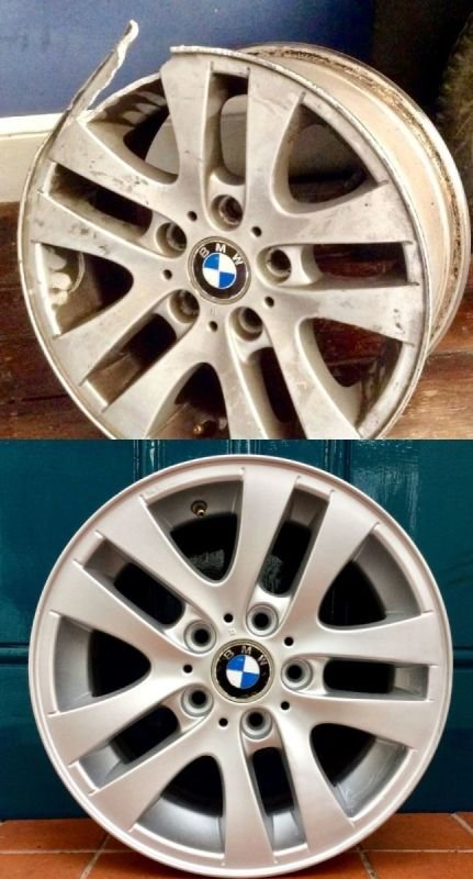 BMW 320 Severe Rim Damage/ Repair | Alloywheelwelding.co.uk