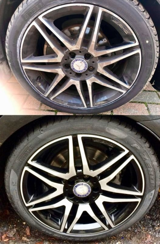 AMG Mercedes Diamond Cut Repair x4 | Alloywheelwelding.co.uk