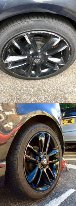 Vauxhall Corsa  Gloss Black Refurb x 4 | Alloywheelwelding.co.uk