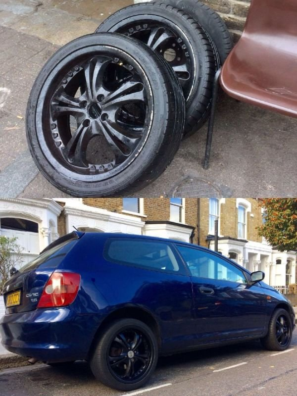 Honda Matt Black Refurb | Alloywheelwelding.co.uk