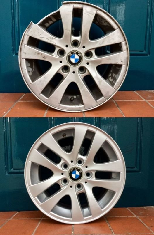 BMW Severe Rim Damage Repair | Alloywheelwelding.co.uk