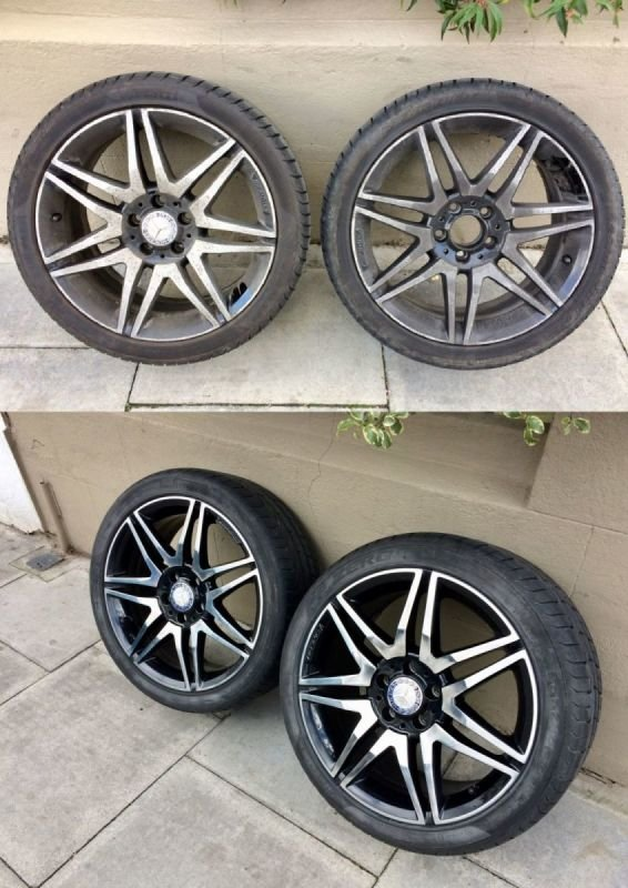 AMG Mercedes Diamond Cut Repair / Polished x 4 | Alloywheelwelding.co.uk