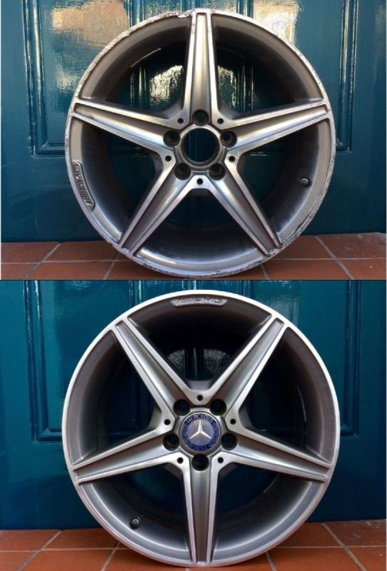 AMG Mercedes Rim & Diamond Cut Repair x 4 | Alloywheelwelding.co.uk