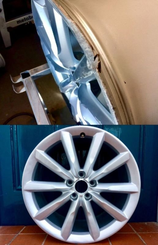Audi A6 Extreme Rim Damage Repair | Alloywheelwelding.co.uk