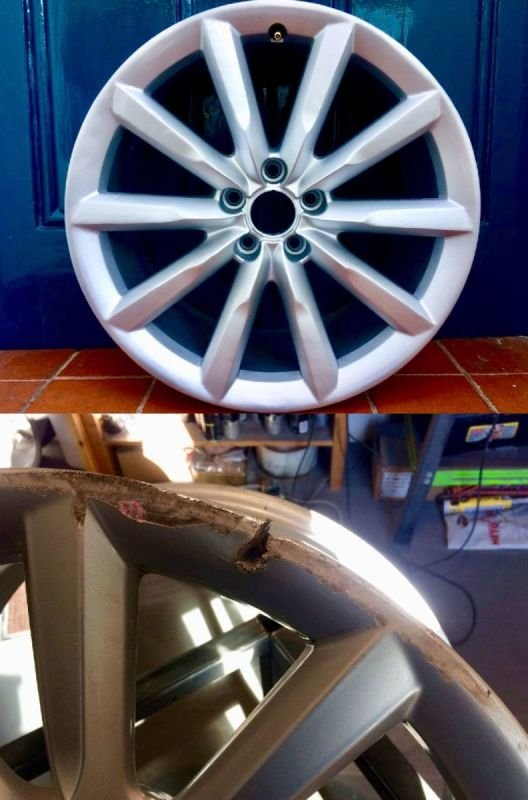 Audi A6 Severe Rim Damage Repair | Alloywheelwelding.co.uk