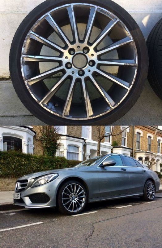 AMG Mercedes Diamond Cut Repair x 4 | Alloywheelwelding.co.uk