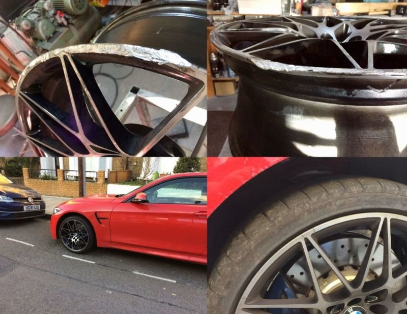 BMW M4 Diamond Cut Repair x 4 | Alloywheelwelding.co.uk