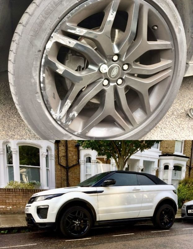 Range Rover Evoque Satin Black Refurbishment | Alloywheelwelding.co.uk