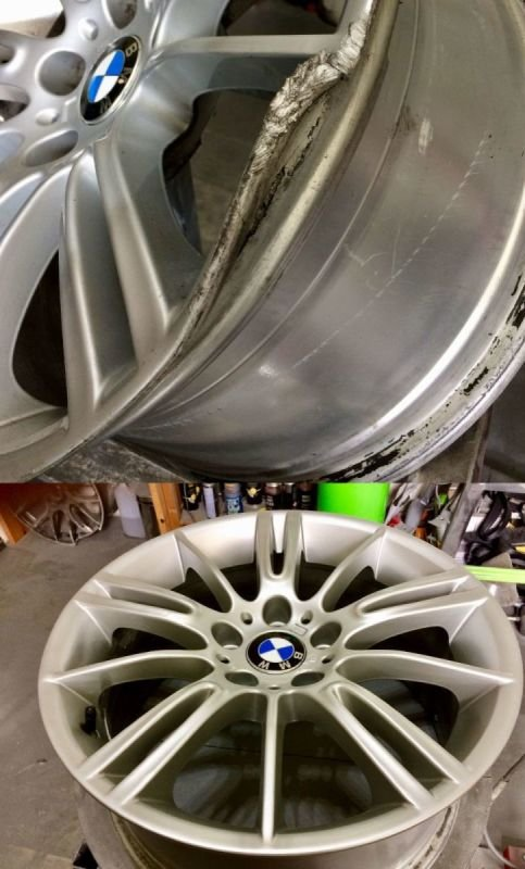 BMW M Sport Severe Rim Damage Repair (By post)  | Alloywheelwelding.co.uk