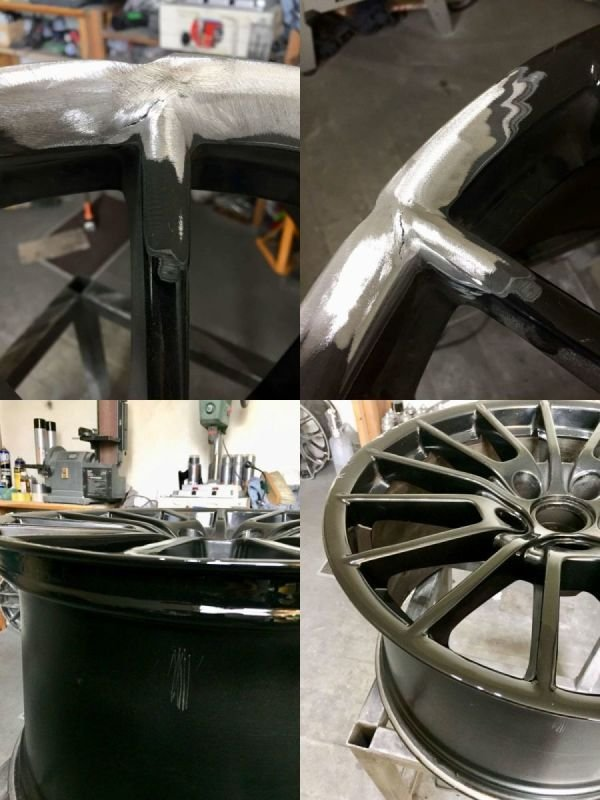 Porshe 911 Turbo Radial Crack / Buckle | Alloywheelwelding.co.uk