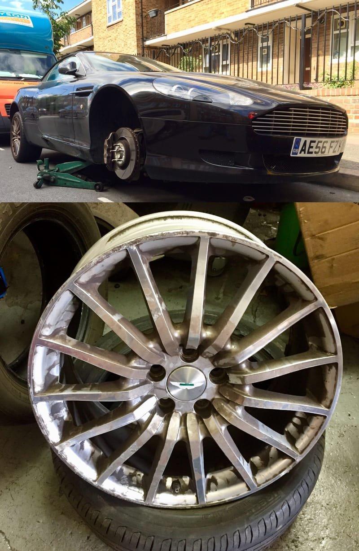 Aston Martin DB9 Crack Repair | Alloywheelwelding.co.uk