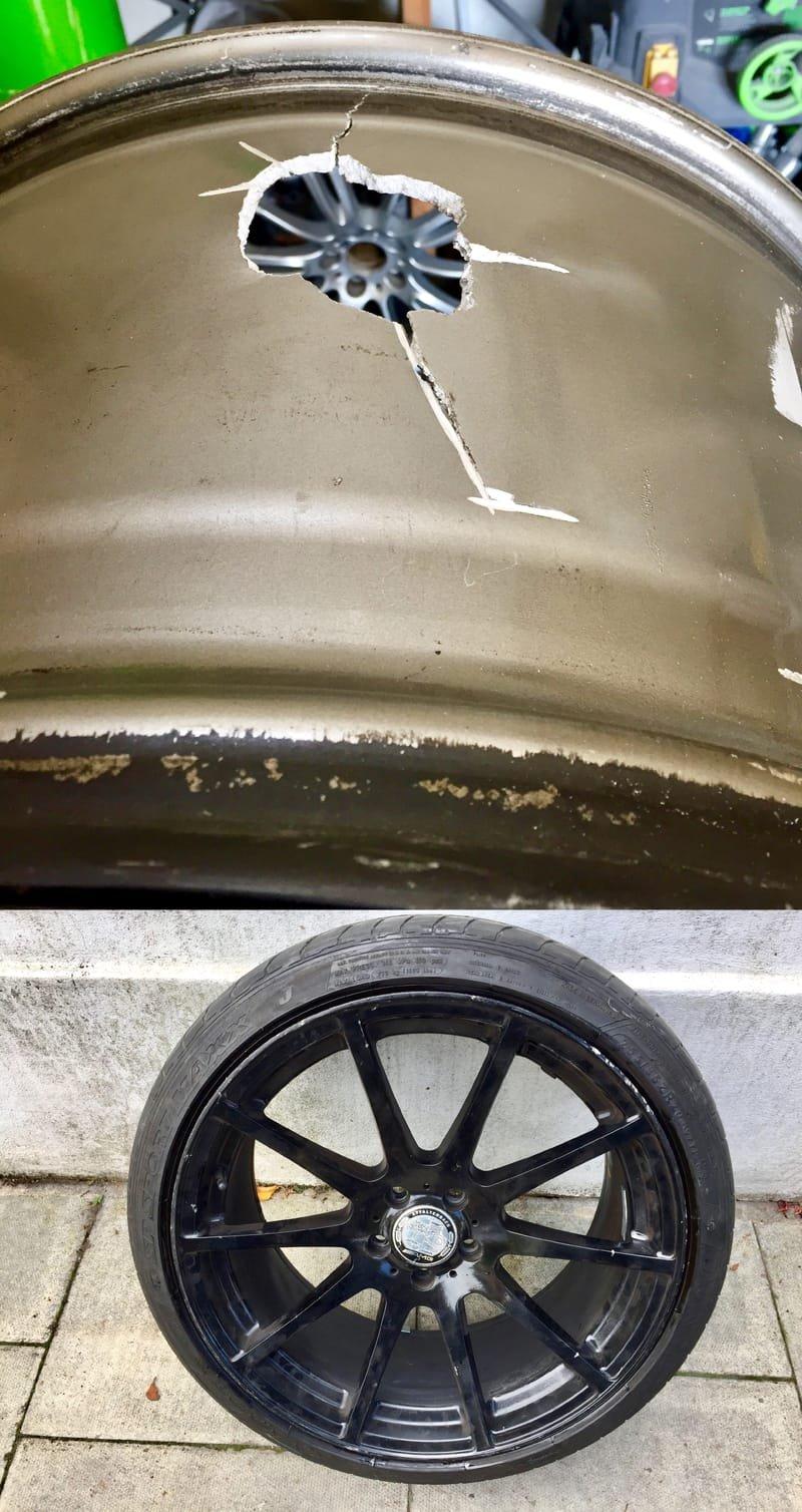 AMG Mercedes Radial Crack Repair | Alloywheelwelding.co.uk