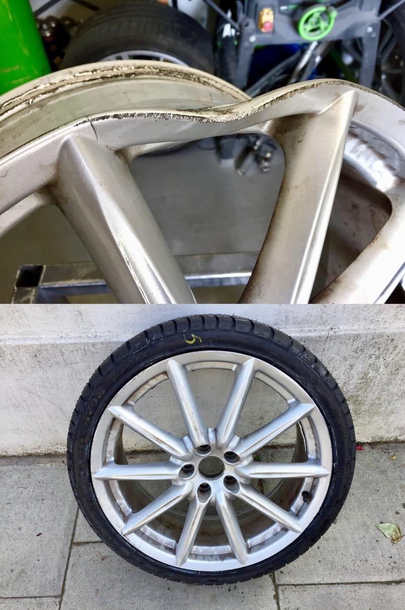 Alfa Romeo 159 Crack / Buckle Repair | Alloywheelwelding.co.uk