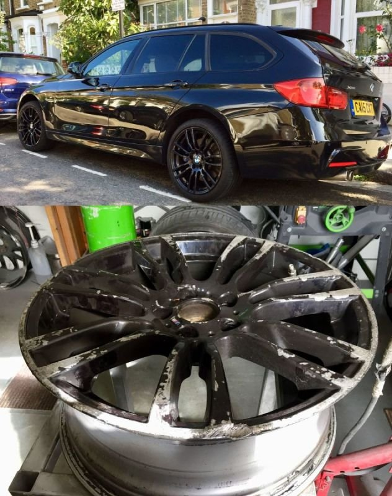 BMW 335d X Drive  Refurb / FillerWeld  & Refurb x 4   | Alloywheelwelding.co.uk