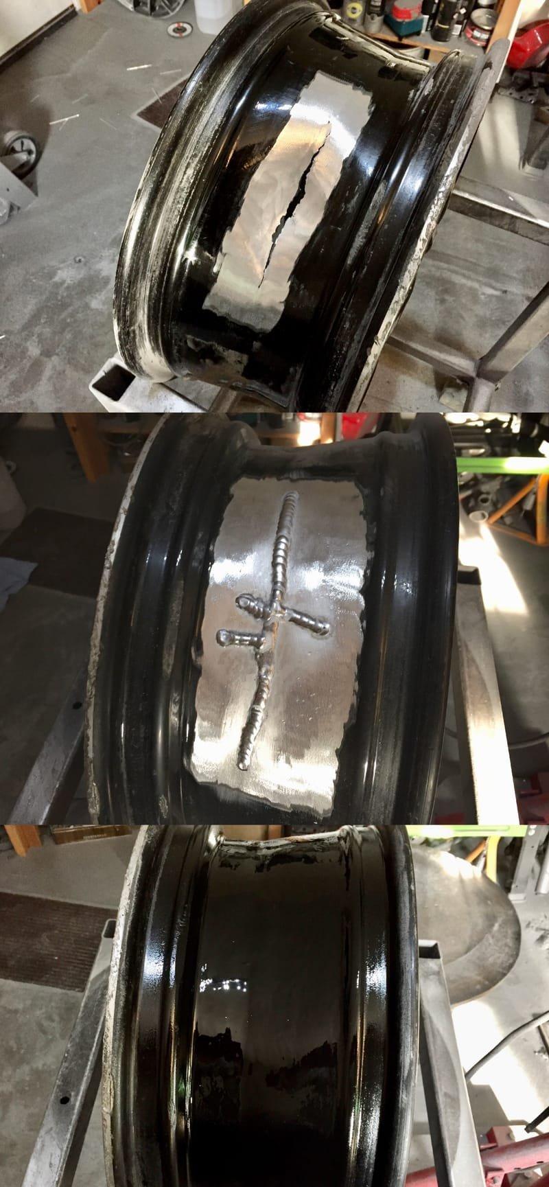 Golf Gti Mk 7 Radial Crack Repair | Alloywheelwelding.co.uk