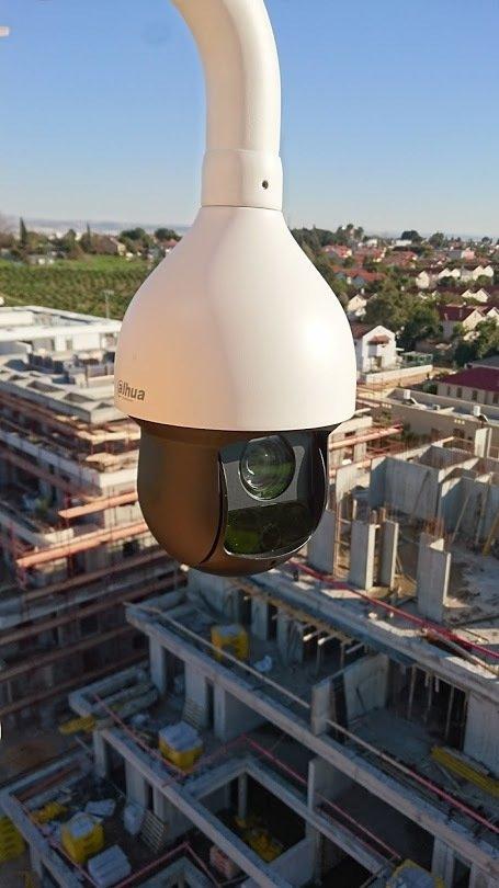מצלמות אבטחה באתרי בניה
