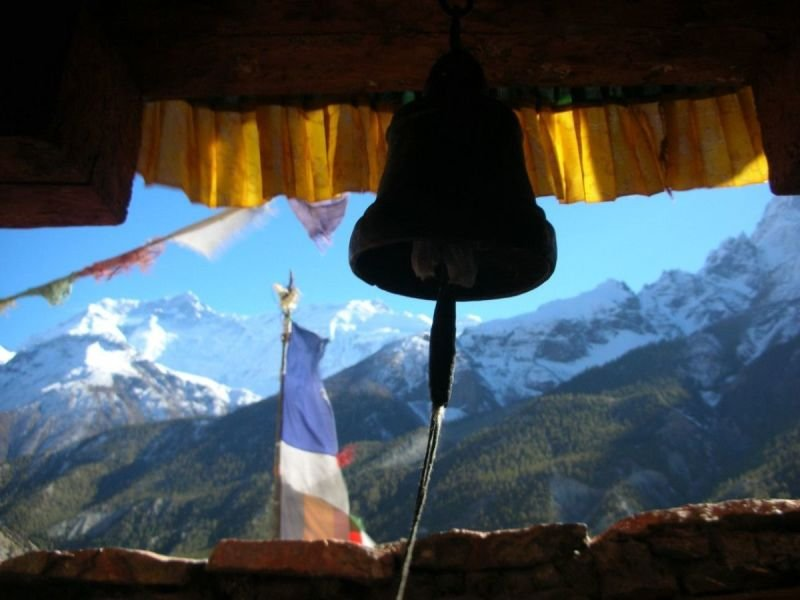 PRAYER FLAGS, MOUNTAINS AND BELLS - EVERYWHERE.