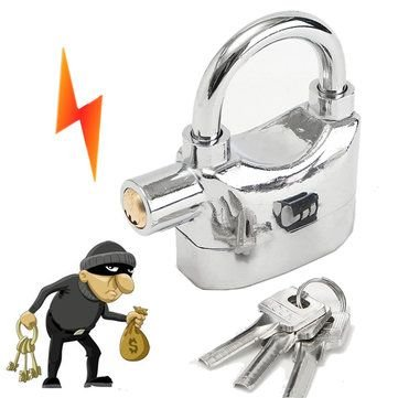 Alarm Padlock (Chrome)