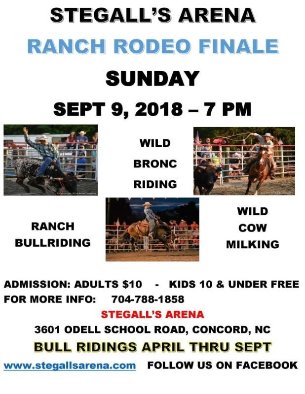 STEGALL'S ARENA RANCH RODEO FINALE