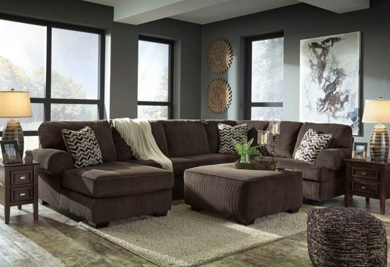 JILLINGSLY CHOCOLATE 72501 SECTIONAL