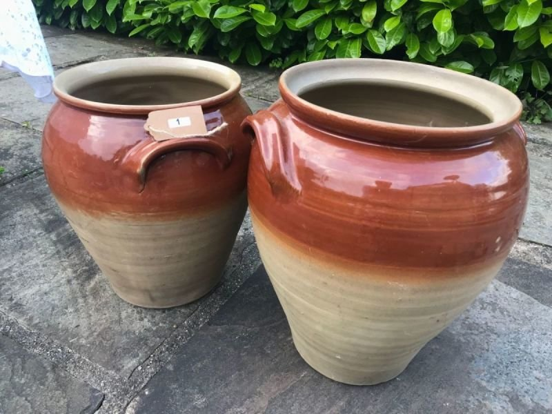 Lot 1 - Good Pair of Stoneware Planters - £15 to £25