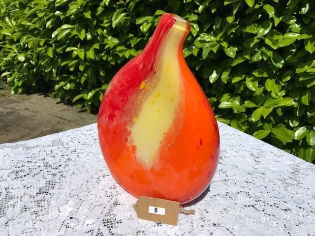 Lot 6 - Orange Murano Glass Vase - £20 to £30